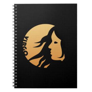 Virgo Zodiac Sign Spiral Note Book