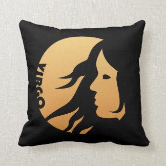 Virgo Zodiac Sign Throw Pillows