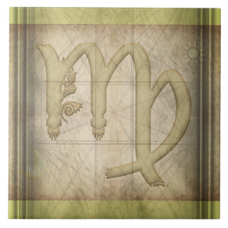 Virgo Zodiac Sign Ceramic Tiles