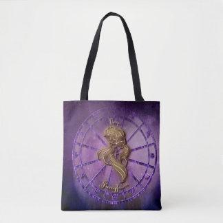 Virgo Zodiac Sign Tote Bag