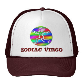 Virgo Zodiac Star Sign Rainbow Running Girl Mesh Hat