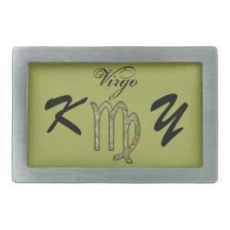 Virgo Zodiac Symbol Element by Kenneth Yoncich Belt Buckles