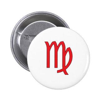 Virgo, Zodiac symbol, horoscope Buttons