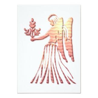 Virgo Zodiac Symbol Invitation