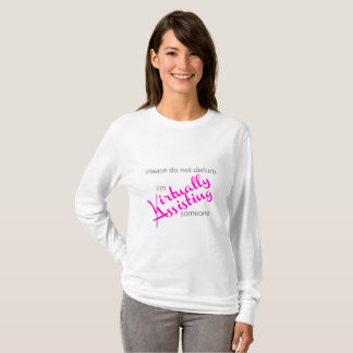 Virtual Assistant T- Shirt Pink
