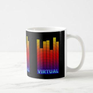 Virtual levels. coffee mug