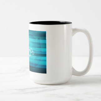 Virtual Science and Research Development as Art Two-Tone Coffee Mug