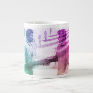 Virtualization Business Technology as an Abstract Large Coffee Mug