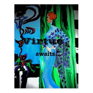 Virtue awaits postcard