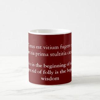 Virtus est vitium fugere mug