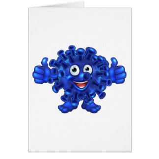 Virus Bacteria Alien or Monster Cartoon Character Card
