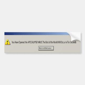 virus bumper sticker