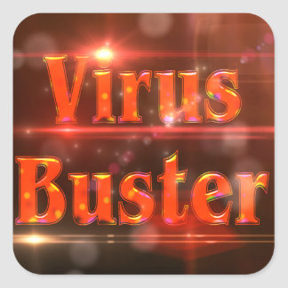 Virus Buster Red Lights ©AH2017 Square Sticker
