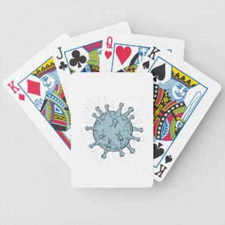 Virus Drawing Bicycle Playing Cards