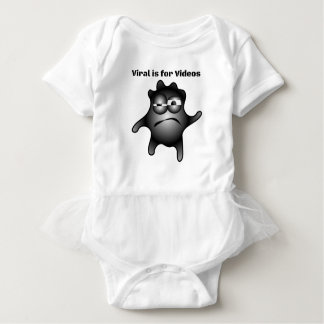 Virus Germ Contagious Viral is for Videos Baby Bodysuit