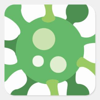 Virus Square Sticker