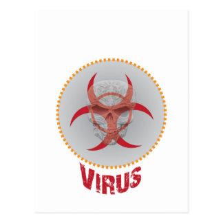 Virus Warning Postcard