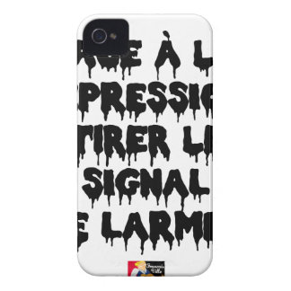Vis-a-vis the DEPRESSION, To draw the SIGNAL FROM iPhone 4 Case-Mate Case