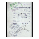 Visa & Entry Stamps from Communist East Germany Post Card