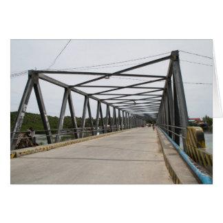 Visayan bridge greeting card