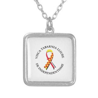 Visca Tabarnia Lliure de Independentisme Silver Plated Necklace