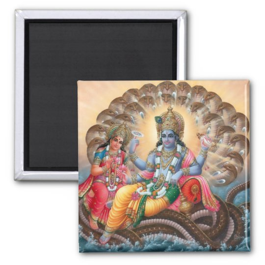 Vishnu & Lakshmi Magnet - Version 2