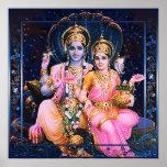 Vishnu & Lakshmi Poster