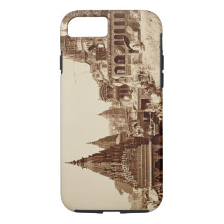 Vishnu Pud and Other Temples, Benares (sepia photo iPhone 7 Case