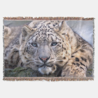 Vishnu Snow Leopard Throw Blanket