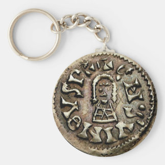 Visigoth Chindaswinth Gold Coin Obverse Basic Round Button Key Ring