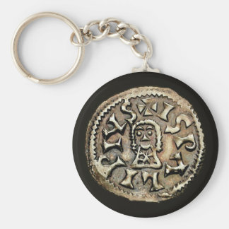 Visigoth Chindaswinth Gold Coin Reverse Basic Round Button Key Ring
