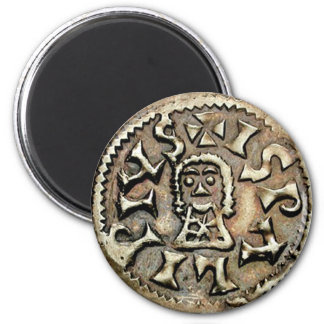 Visigoth Chindaswinth Gold Coin Reverse 6 Cm Round Magnet