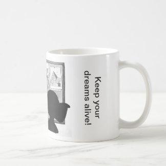 Vision Board Dreams and Goals Basic White Mug