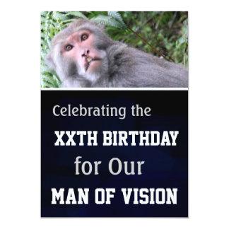 VISION l Funny Humor Birthday Party Invites Personalized Invite