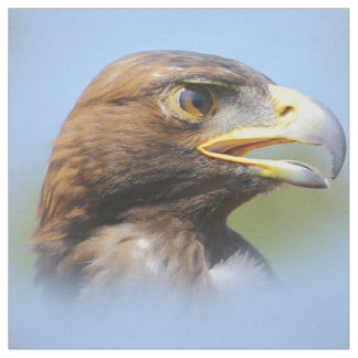 Vision of a Beautiful Young Golden Eagle Fabric