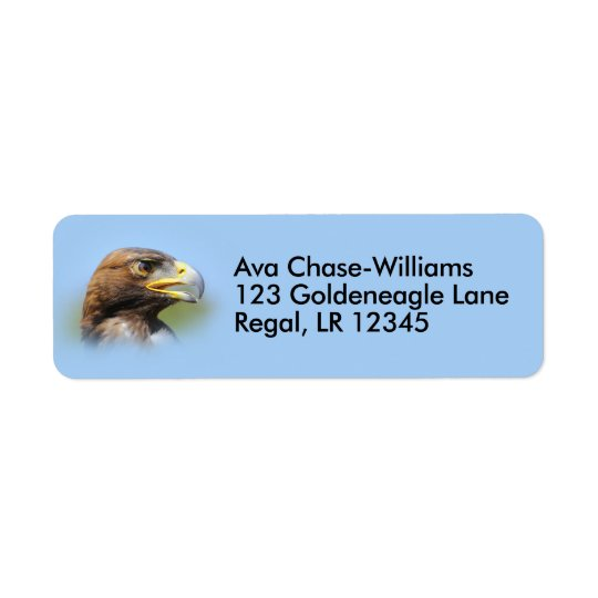 Vision of a Beautiful Young Golden Eagle Return Address Label