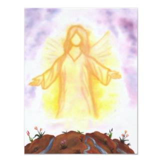vision of an angel appearing and shining 11 cm x 14 cm invitation card
