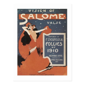 Vision of Salome Valse Songbook Cover Postcard