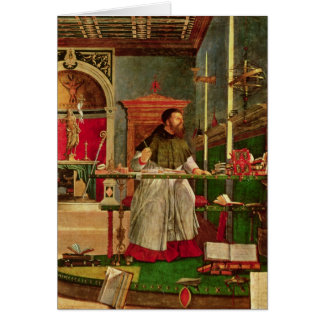 Vision of St. Augustine, 1502-08 Card