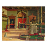 Vision of St. Augustine, 1502-08 (oil on canvas) ( Poster