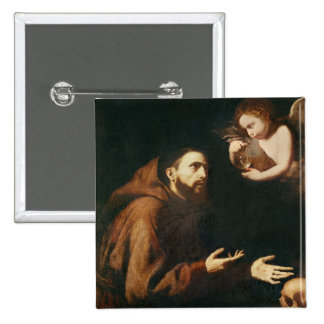 Vision of St Francis of Assisi Pinback Buttons