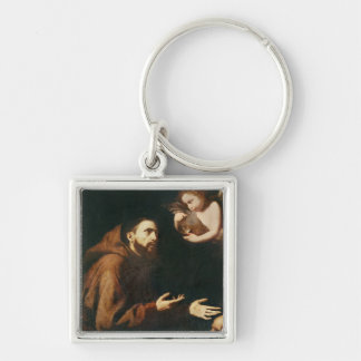 Vision of St. Francis of Assisi Key Ring