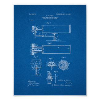 Vision-testing Apparatus Patent - Blueprint Poster