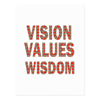 VISION Values Wisdom : Elegant Text LOWPRICE GIFTS Postcard
