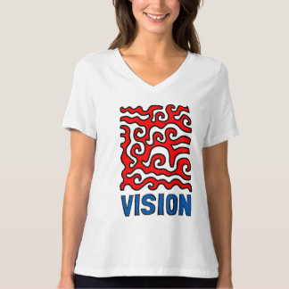 """""""Vision"""" Women's Relaxed Fit V-Neck T-Shirt"""