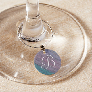Visionary Bar | Monogram Pink Purple Teal Blue | Wine Charm