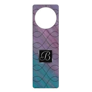 Visionary Decor   Monogram Pink Purple Teal Blue   Door Hanger