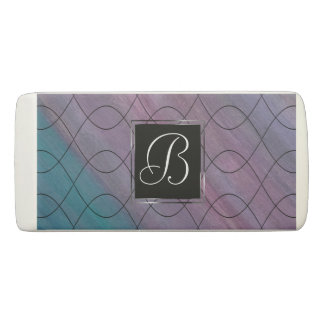 Visionary Office | Monogram Pink Purple Teal | Eraser