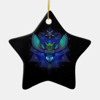 Visionary Owl Ceramic Star Decoration