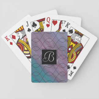 Visionary Play | Monogram Pink Purple Teal Blue | Playing Cards